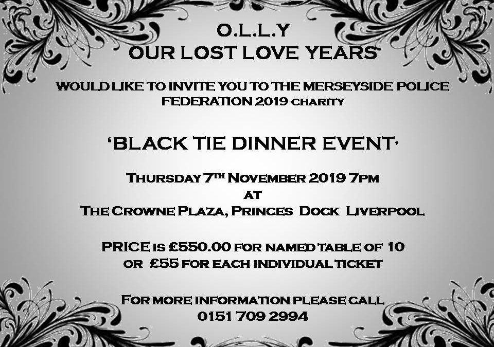 Black Tie Dinner Event 7th November 2019