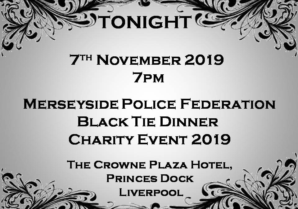 TONIGHT – BLACK TIE DINNER CHARITY EVENT 2019