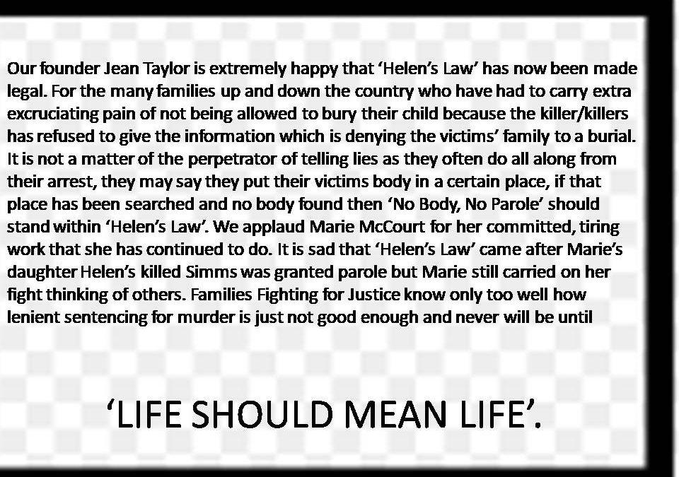 Helen's Law