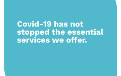 Covid19 has not stopped the essential services we offer